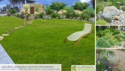 p. Čižnárová - celkový pohľad na záhradu (bez výsadby za plotom)