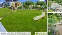 p. Čižnárová - celkový pohľad na záhradu (s výsadbou za plotom)