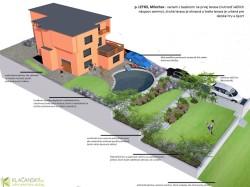 p. Letko - model záhrady s bazénom na 1. terase