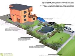 p. Letko - model záhrady s bazénom na 2. terase